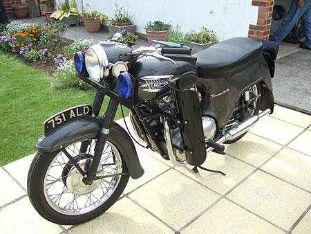 Old Police Bike, 1976 FLH Police Special Custom